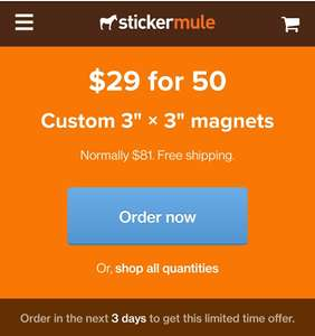 """[Stickermule] 50 Magnete zum selbst gestalten 3""""x3"""" (ca. 7,5x7,5 cm)"""