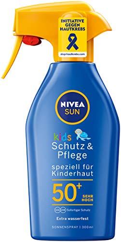 NIVEA SUN Sonnenspray mit verbesserter Formel für Kinder, Lichtschutzfaktor 50+, 300 ml Sprühflasche