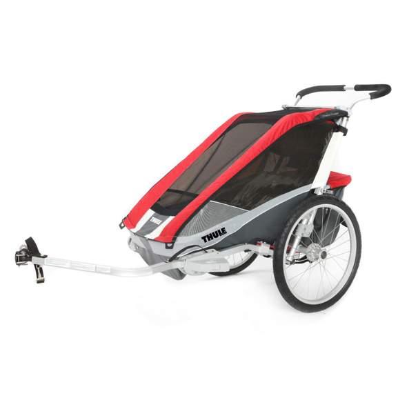 10% auf Fahrräder / Anhänger / Fahrradsitze @Babymarkt z.B. THULE Kinderfahrradanhänger Chariot Cougar 1 Red für 449,99€
