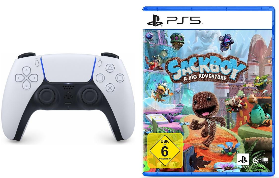 Sony DualSense Controller + Sackboy: A Big Adventure [PS5]