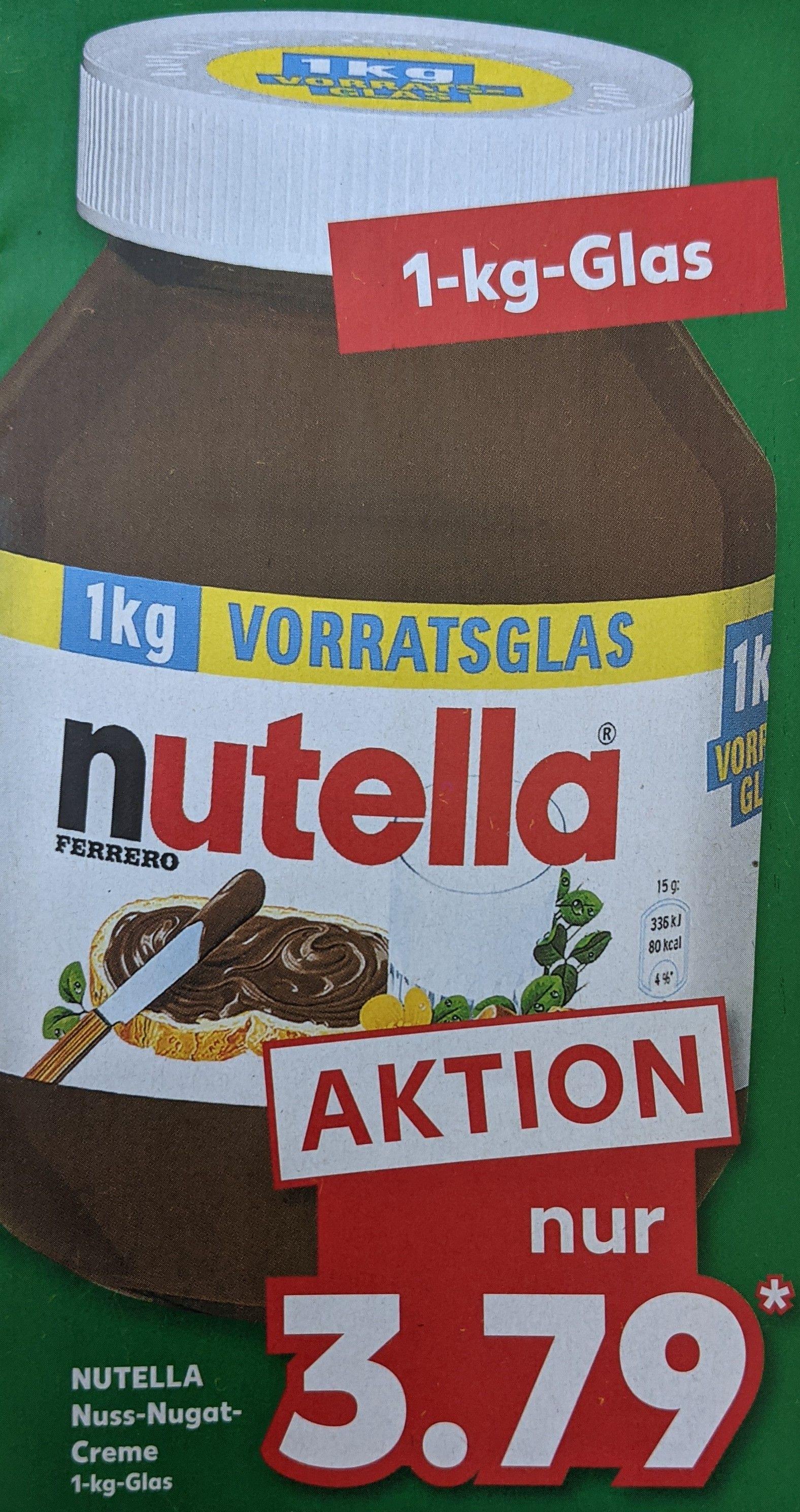 [Kaufland offline] Nutella 1 kg -Glas vom 04.06. - 09.06.