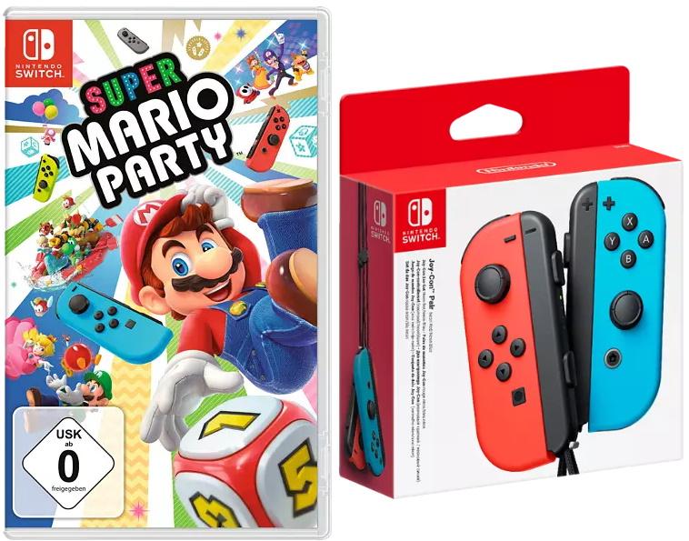 Super Mario Party + Nintendo Switch Joy-Cons 2er-Set (verschiedene Varianten) für 90,78€ inkl. Versand