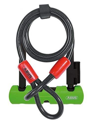 [Prime] ABUS Ultra Mini 410 Bügelschloss + Sicherungskabel Cobra 10/120 (18cm, Sicherheitslevel 8 von 15, 1.060g)