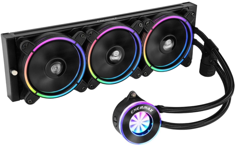 Enermax LiqFusion 360 AiO-Wasserkühlung (360mm-Radiator, 3x 120mm-Lüfter, bis 350W TDP, RGB-Beleuchtung, 2J Garantie)