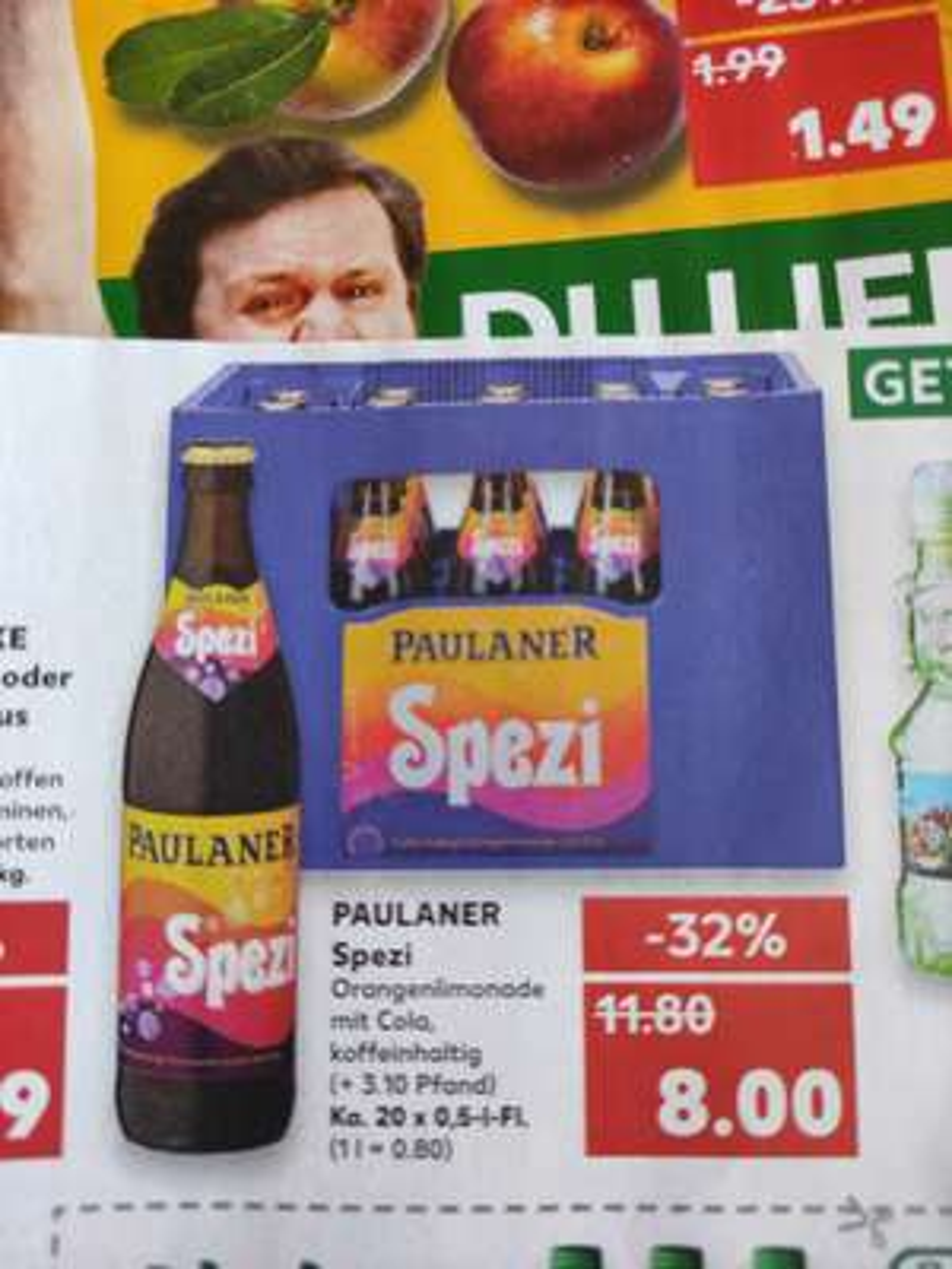 Paulaner Spezi Kasten plus Pfand [Kaufland offline, lokal, ab Mitte DE bis in den Süden an die CH / AT Grenzen]