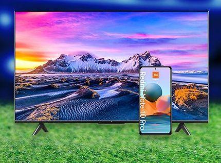 """[o2 Priority] Xiaomi Mi TV P1 55"""" kaufen und Redmi Note 10 Pro erhalten"""