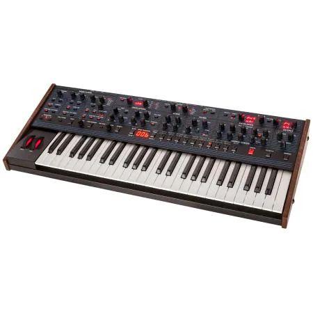 Dave Smith Instruments OB-6 analoger Synthesizer, besitzt sechs Stimmen und zwei Oszillatoren und 12 dB pro Oktave Filter [bax-shop.de]