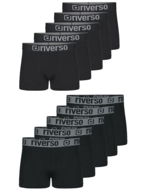 [Mybodywear] Riverso Boxershorts 10 Stück in 2 Designs und verschiedenen Farben (Größen bis 6XL)