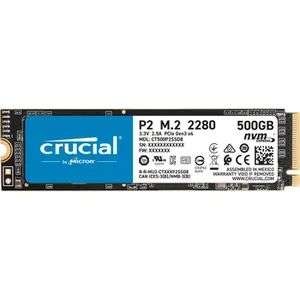 Crucial Internal Solid State Drive (SSD) 500GB Up To 2400 MB/s (3D NAND, NVME, PCle, M.2)