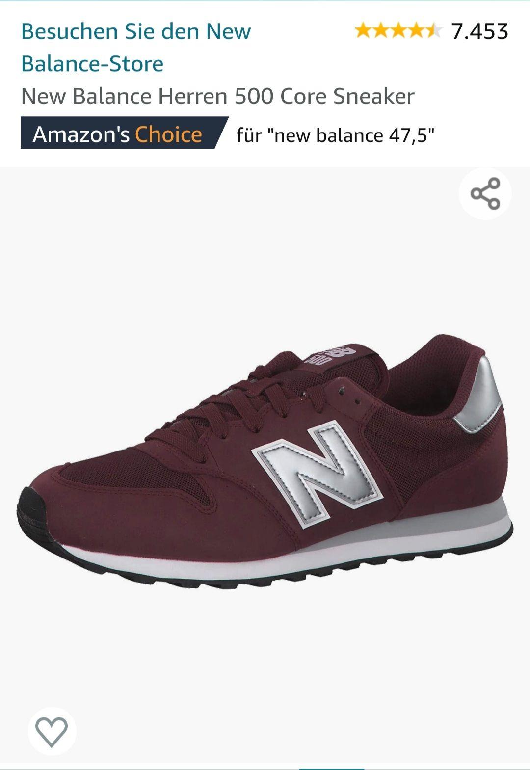 [Amazon] New Balance GM500 in weinrot versch. Größen 40-47,5 für 35,99€