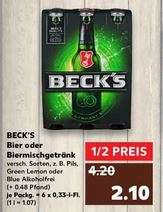 BECK'S Bier oder Biermischgetränk (Kaufland, offline, ggf. bundesweit)