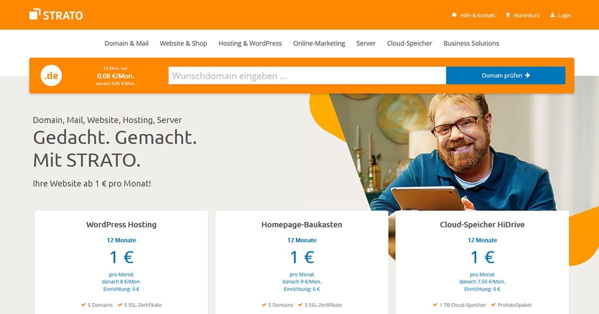 .online Domain für 6,10€, .shop für 9€ & .de Domain für 0,96€ im ersten Jahr