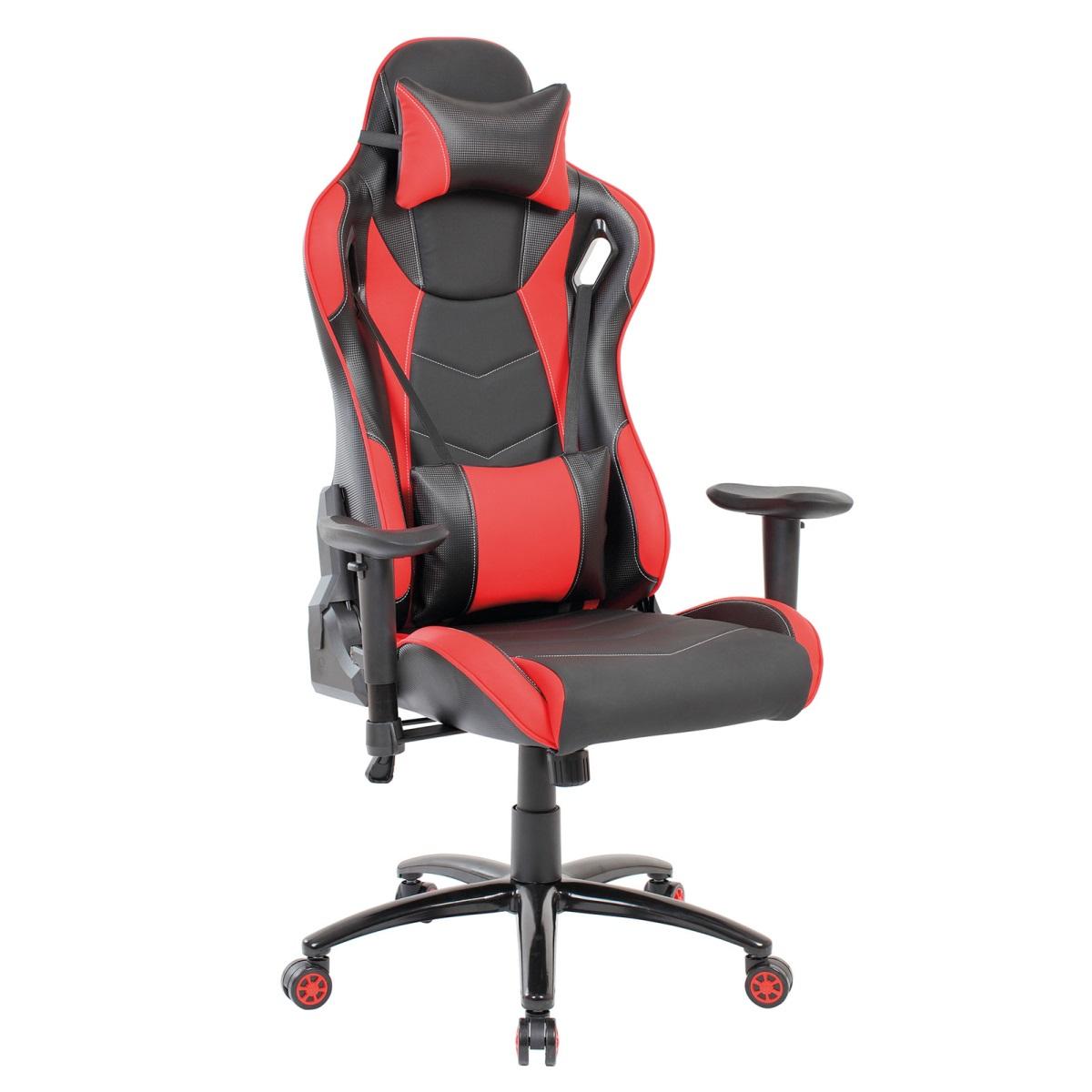 Bürostuhl Gamer schwarz/rot o. schwarz/blau