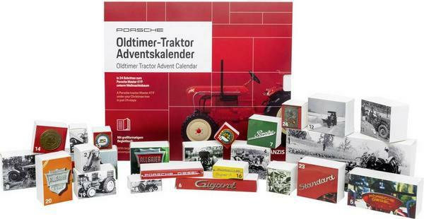 Franzis Porsche Oldtimer-Traktor Adventskalender 2019, Modell Porsche Master 419, 24 Türchen bis zum fertigen Modell [Thalia KultClub]