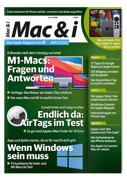 c't Mac & i (2 Ausgaben) + Mac & i Extra Workshops für Mac und Windows + macOS Big Sur Buch oder 10 € Amazon-Gutschein für 14,40 €