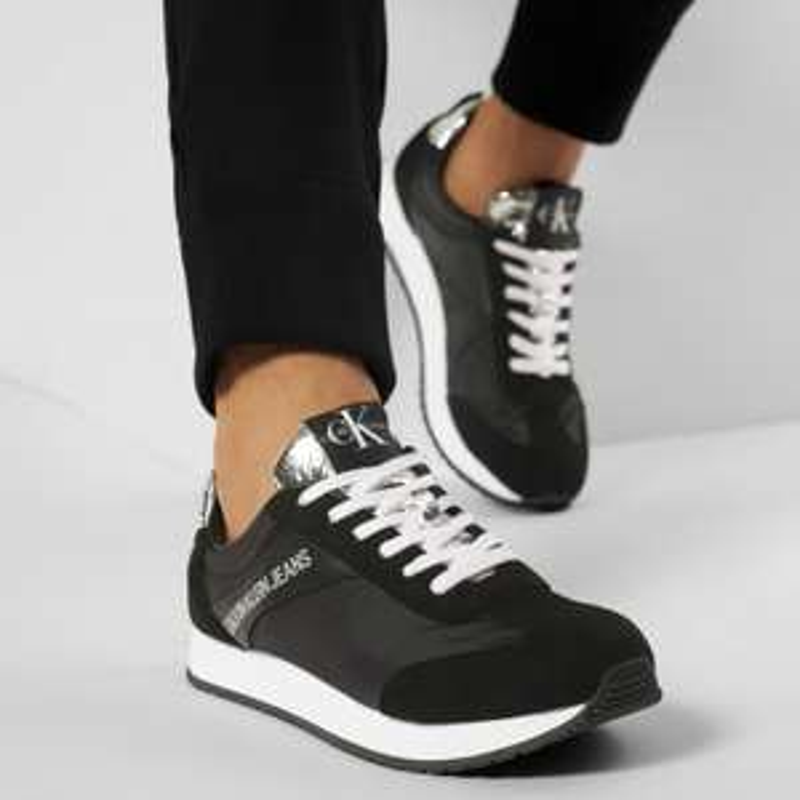 Calvin Klein Jeans Herren Sneakers Jerrold B4S0717 Black/Silver (Größen 40 bis 45)