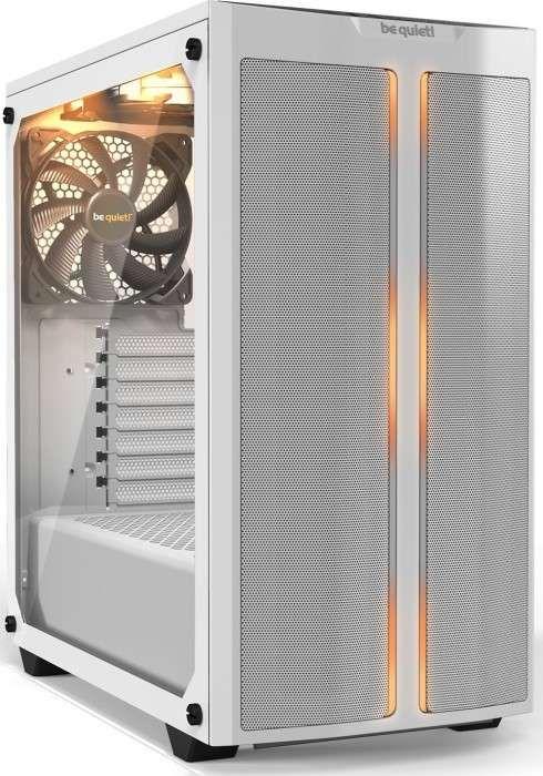 Be quiet! Pure Base 500DX weiß (mITX bis ATX, bis 360mm Radiatoren, bis zu 6 Lüfter (3 vorinstalliert), RGB, Staubfilter, Kabelmanagement)