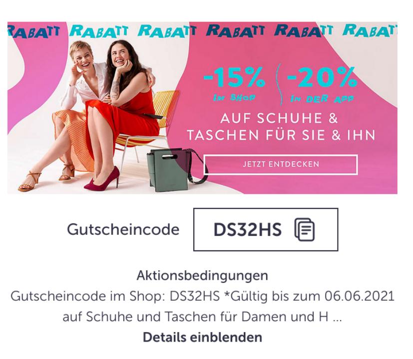 Bei Mirapodo 15/20% auf Schuhe und Taschen /zB. Asics Kayano 27 88,39€