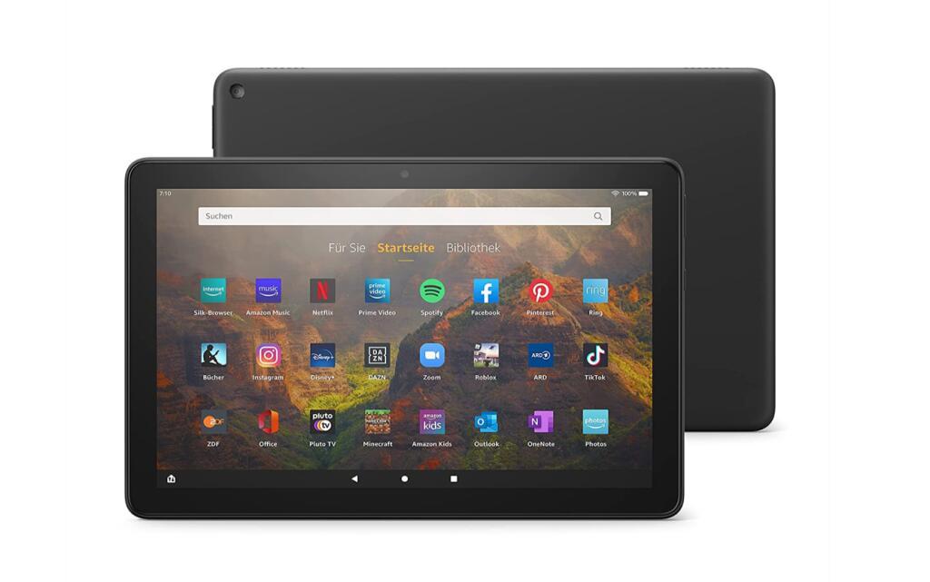 Amazon Fire HD 10, 11. Generation ( 32GB, 25,6cm, Tablet PC, bis 12h Akkulaufzeit, 3GB RAM ) erhältlich in schwarz, blau, olivegrün