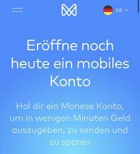 Kostenloses Monese Konto - neue KWK Aktion mit bis zu 40€ Bonus für beide