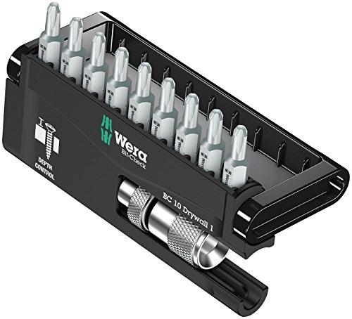 Wera Bit-Sortiment, Bit-Check 10 Drywall 1, 10-teilig, 9xPH 2x25, 05136011001 (Prime)