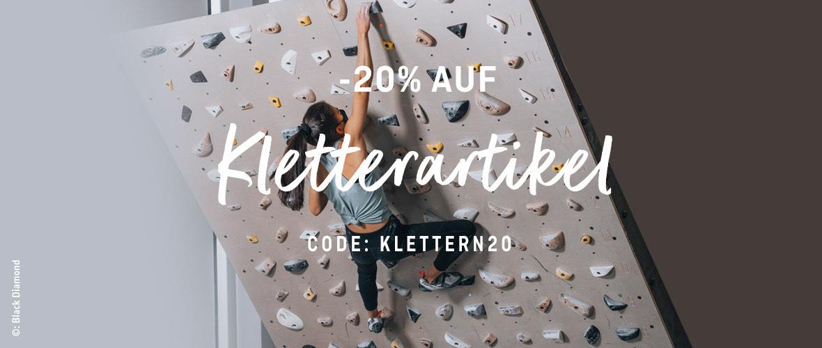 20% auf Kletterschuhe & Kletterbekleidung