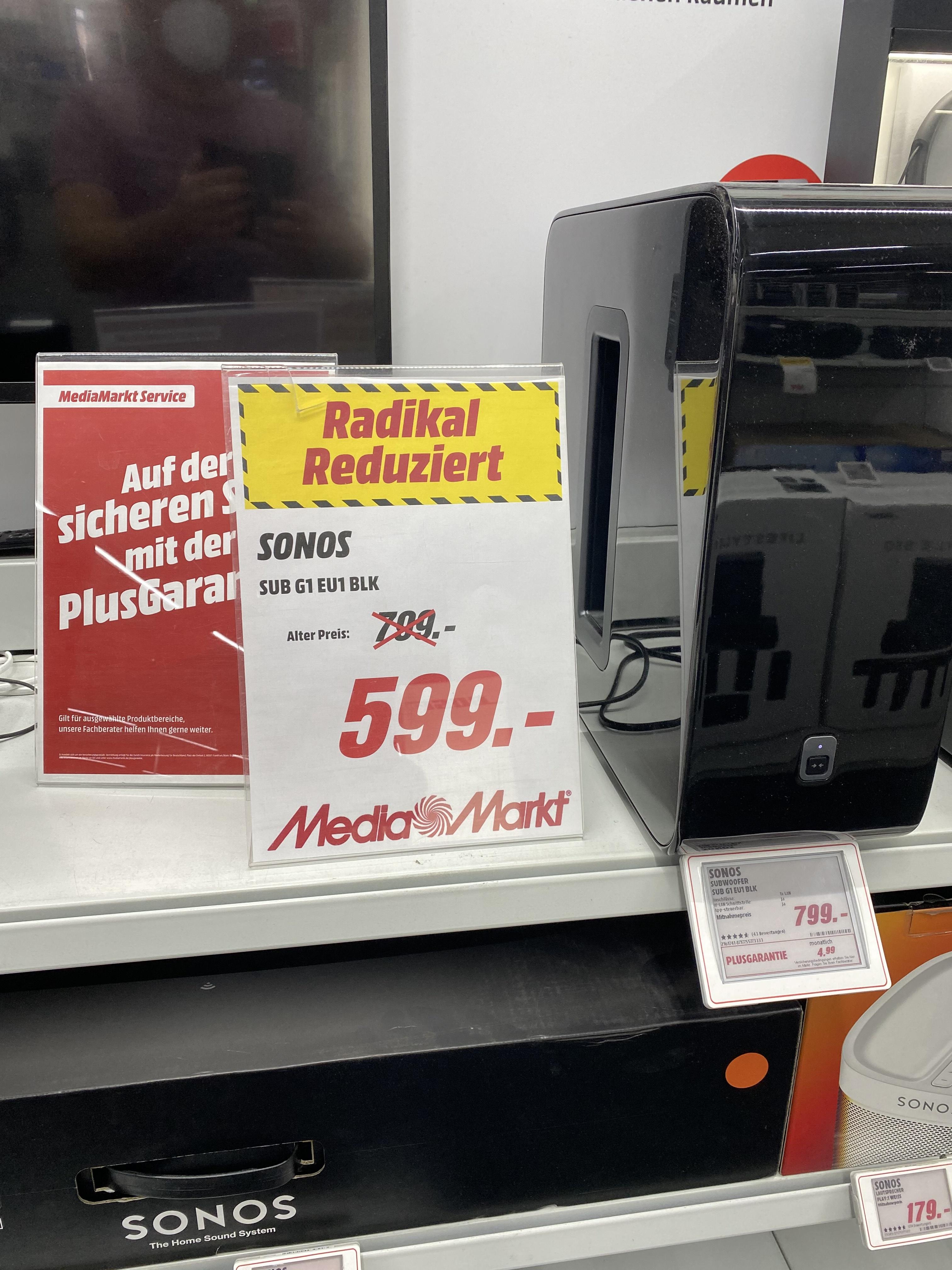 Sonos SUB 599,-€ Lokal in Stralsund