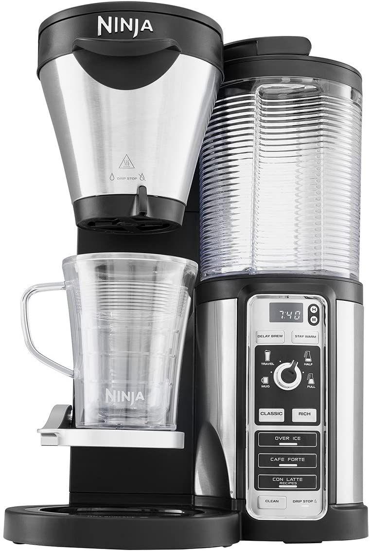Ninja [CF060EU] Kaffeeautomat mit Timer und Auto-iQ Technologie , Kaffeemaschine inklusive Milchaufschäumer,