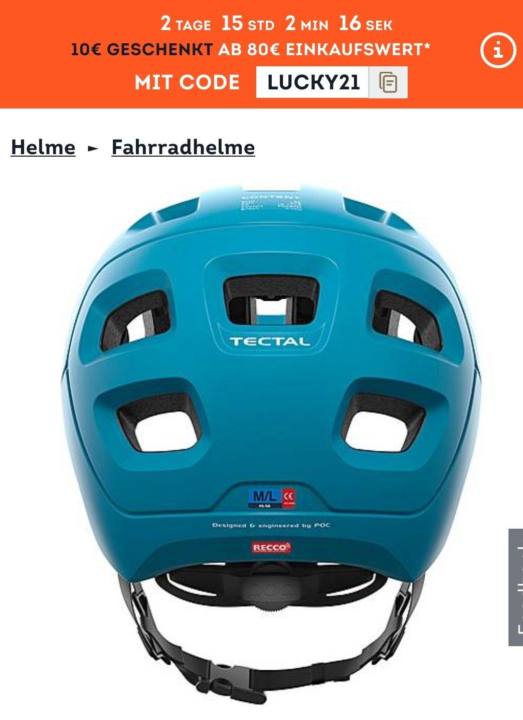 Poc tectal basalt blue MTB Helm alle GR.