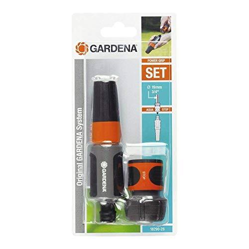 """Gardena 19 mm 3/4"""" Schlauchbewässerungsset 1 Aquastop-Armatur + Reinigungsspritze (Prime)"""