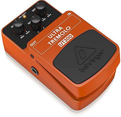 Behringer UT300 Ultra Tremolo, Klassisches Gitarren Tremolo-Effektpedal, Orange [Amazon Prime]