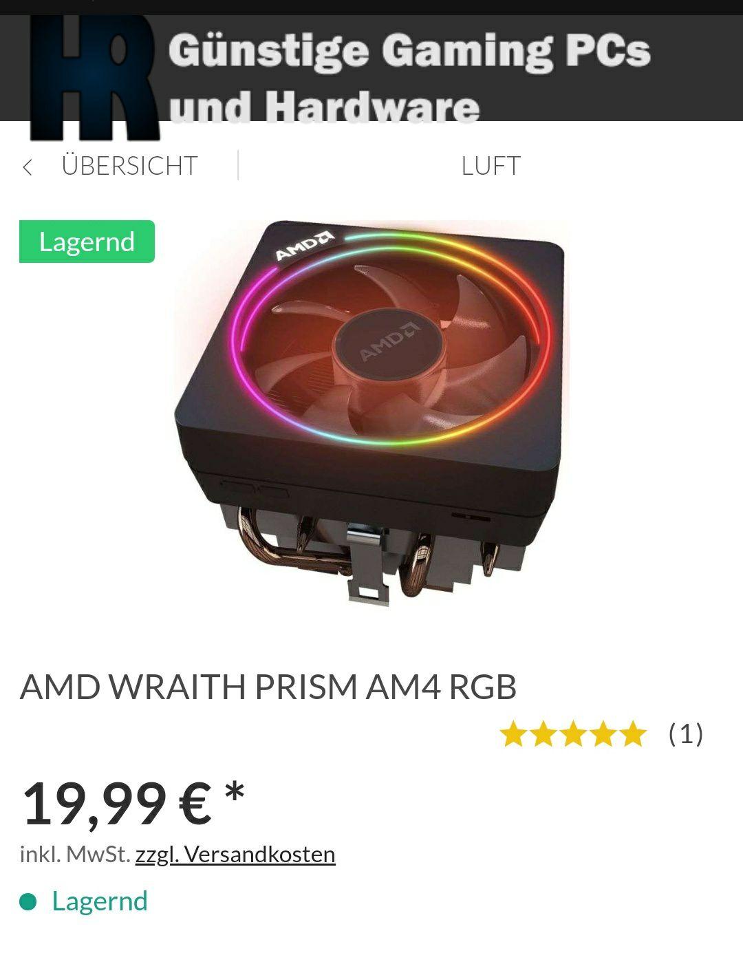 AMD WRAITH PRISM AM4 RGB