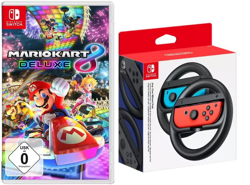 Mario Kart 8 Deluxe + Nintendo Switch Joy-Con-Lenkrad-Paar (ohne Joy-Cons!)