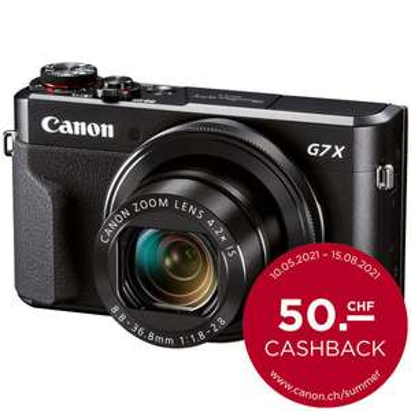 SCHWEIZ Canon Powershot G7X II mit Tasche und Speicherkarte (+ 50 CHF Cashback)