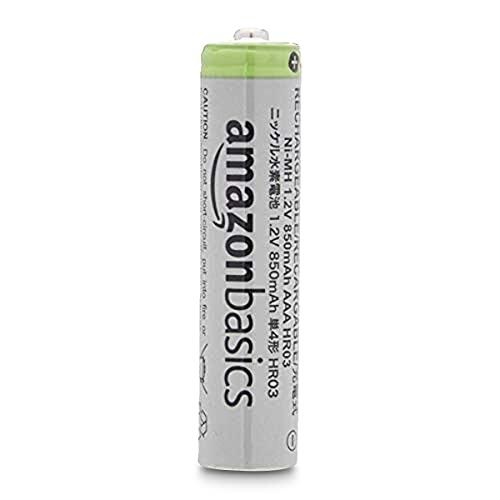 24x AAA Amazon Basics Akkus / wiederaufladbare Batterien mit hoher Kapazität 850mAh
