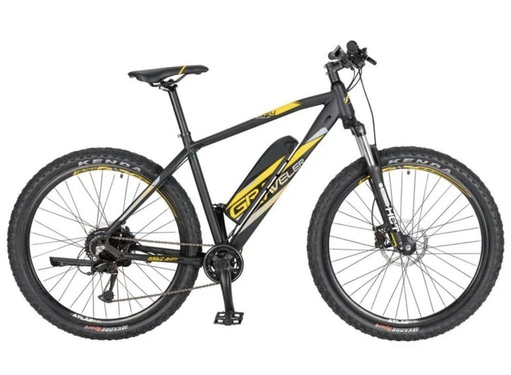 """PROPHETE Hardtail: E-Bike Alu-MTB 650B 27,5"""", 374 Wh"""