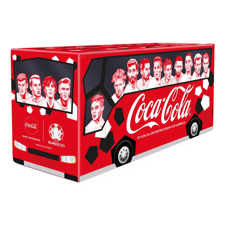 Aldi Süd ab 11.06.: Friendspack im EM Design mit 10 Dosen Coca-Cola, Jede Dose mit 330ml Inhalt, Pfand kommt dazu