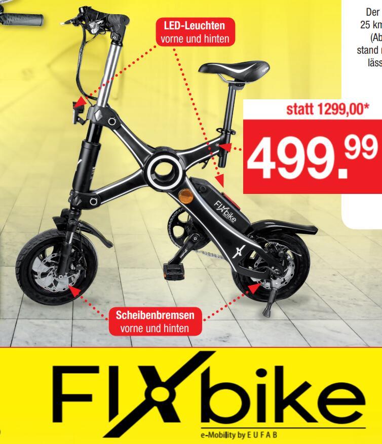 "FIXbike by EUFAB 12"" E-Faltrad Pedelec"