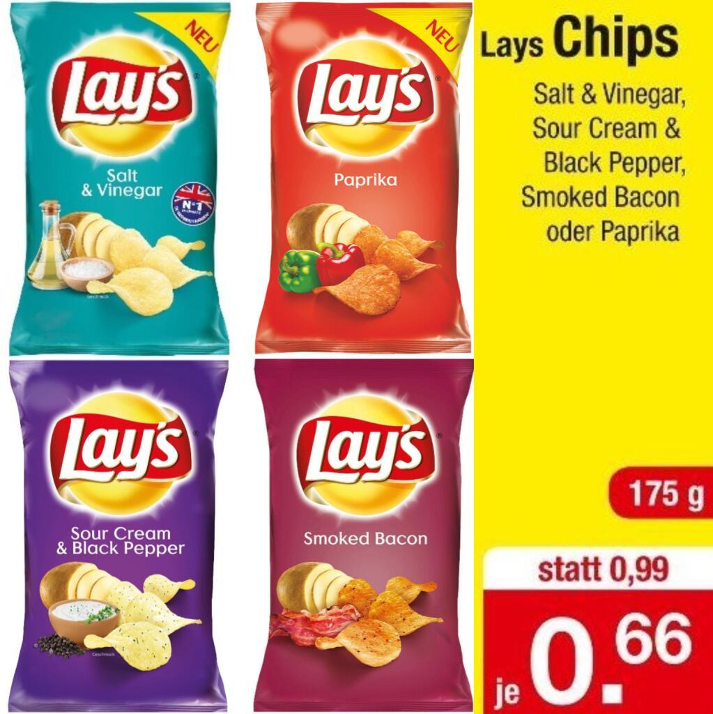 Lay's Chips 175g Beutei in vier Sorten (3,77€/kg)