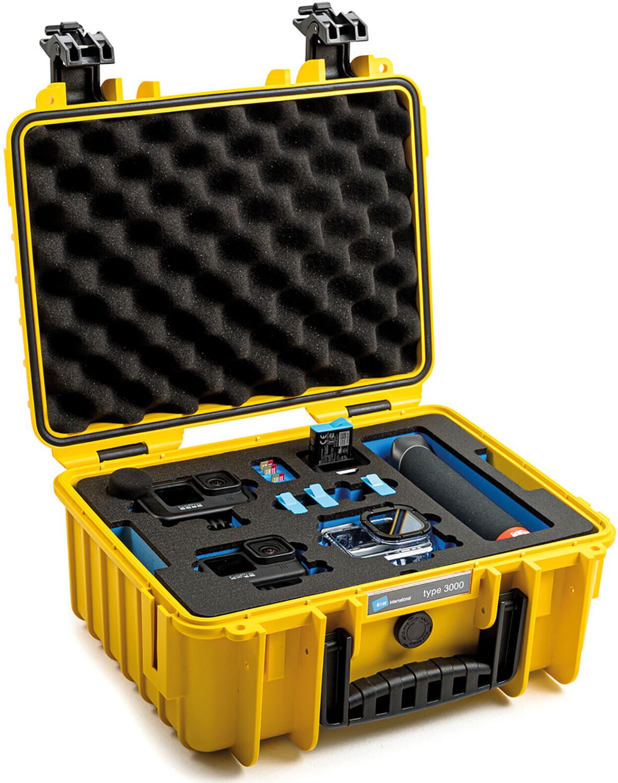 B&W Outdoor Case Typ 3000 inkl. GoPro Hero 9 Inlay (gelb)
