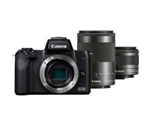 Canon EOS M50 Systemkamera + 15-45 mm F3.5-6.3 STM + 55-200 mm F4.5-6.3 STM Objektiv Kit