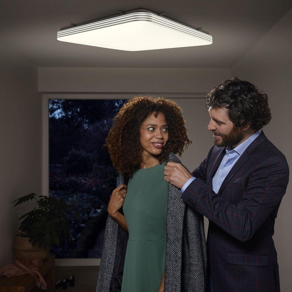 Ledvance Deckenleuchte Orbis Square Click Sensor (Mit Licht- und Bewegungssensor, 60 W, 4.450 lm, 3.000 K, IP 20, Warmweiß, 53 x 53 cm)