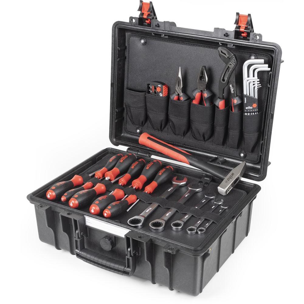 WIHA Werkzeugkoffer Basic Set L mechanisch 43-tlg