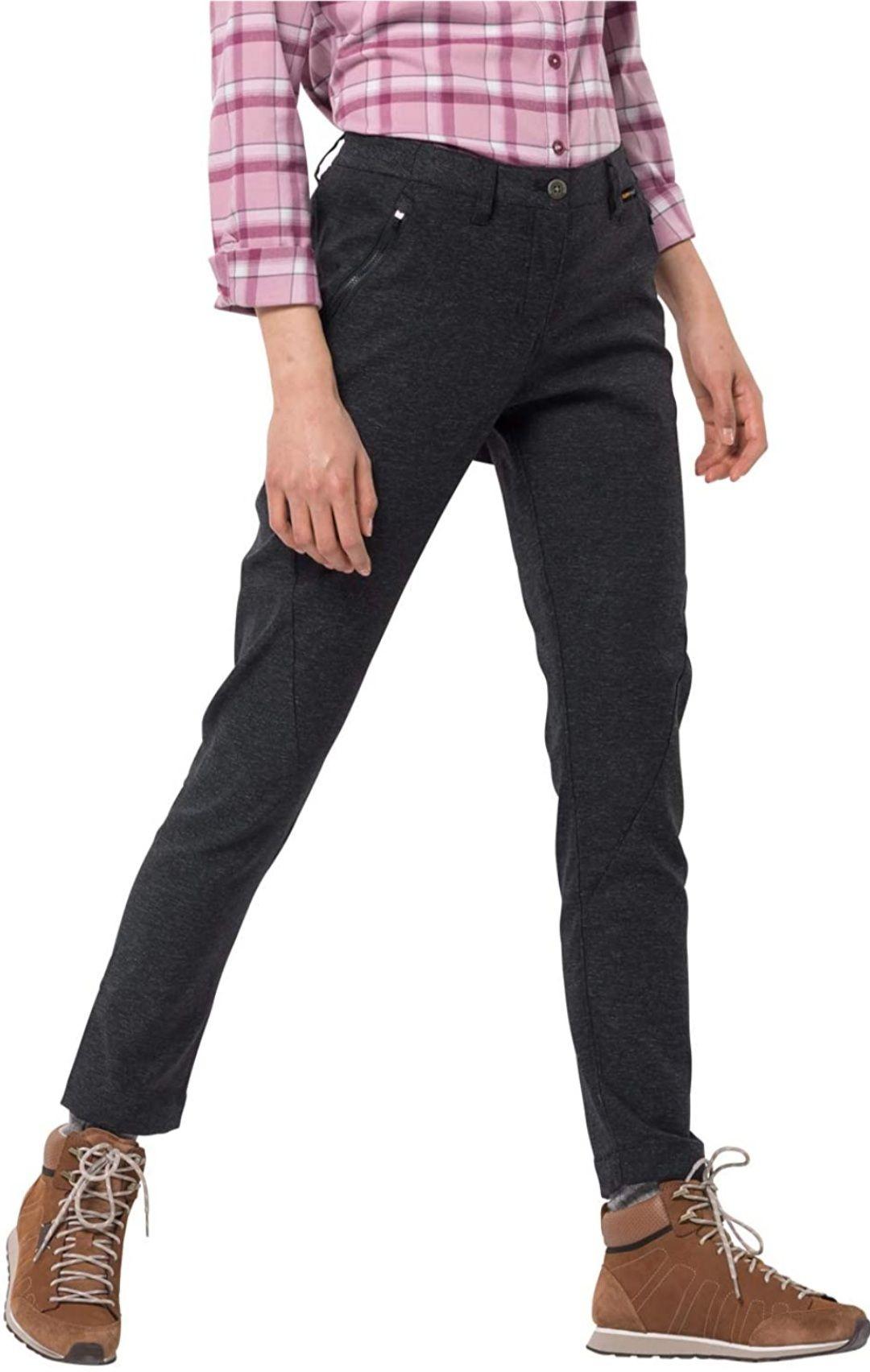 Jack Wolfskin Damen Elastische Softshellhose Winter Travel Pants Women (Amazon UK)