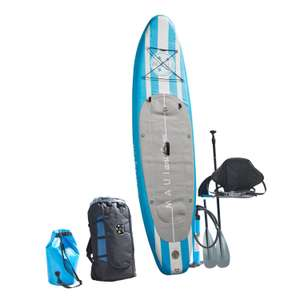 Maui & Sons Stand-up Paddle-Board-Set / Doppelkammer, 3-Finnen