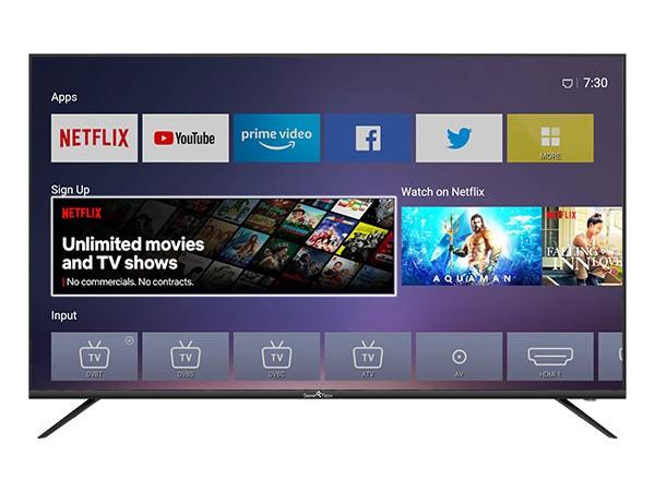"""Smart Tech 4K Ultra HD LED TV 55"""" D-LED SMT55F30UV2M1B1, Smart TV Linux, HDR10+"""