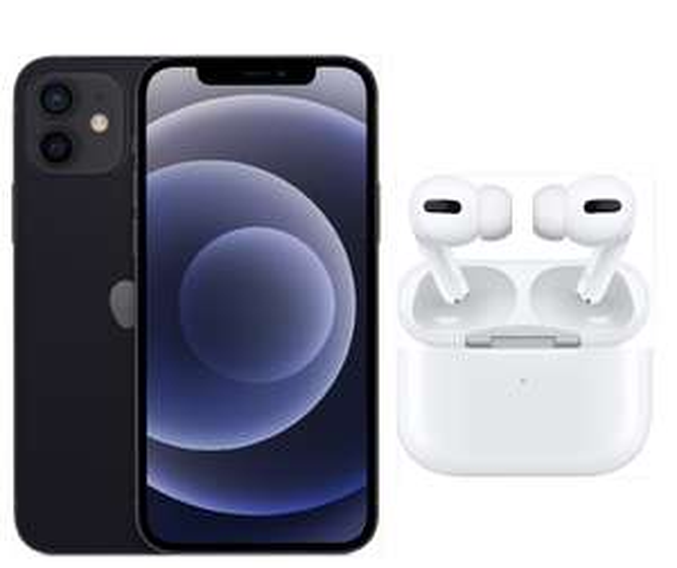 [Gigakombi] iPhone 12 64GB & Airpods Pro im Vodafone Smart XL (45GB 5G, Allnet/SMS, VoLTE, eSIM) mtl. 44,91€ einm. 4,99€ | keine AG