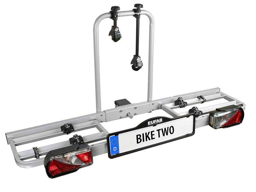 """EUFAB Fahrradträger """"BIKE TWO"""" für Anhängekupplung - Zum Transportieren von 2 Fahrrädern"""