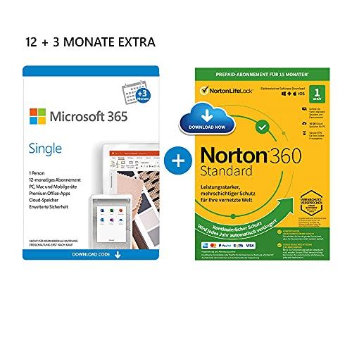Office Microsoft 365 + Norton (12 + 3 Monate extra) 1 User 5 Geräte