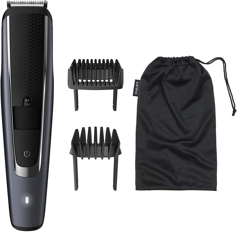 Philips BT5502/16 Bartschneider & Haarschneider (40 Stufen von 0,4 - 20 mm, 90 Min. Akku, wasserdicht, selbstschärfende Metallklingen)